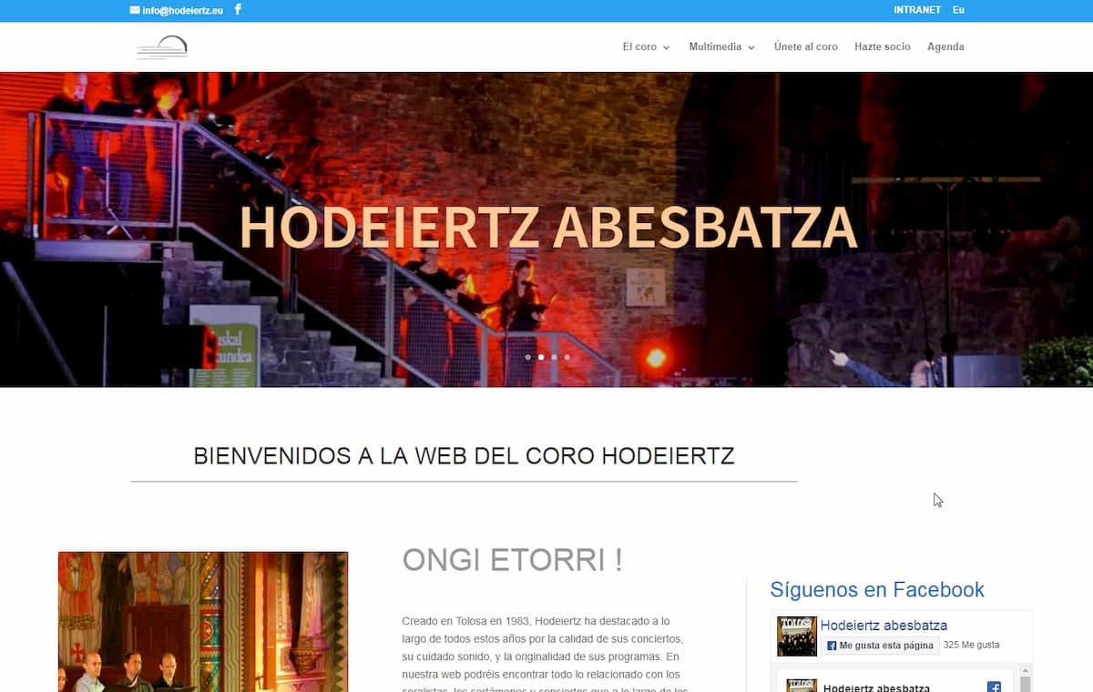 Web en distintos idiomas